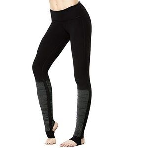 Black gray leg warmer style yoga pants leggings